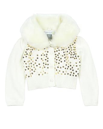 93118d89815 Amazon.com  Petit Lem Baby Girls  White Winter Cardigan (Baby ...