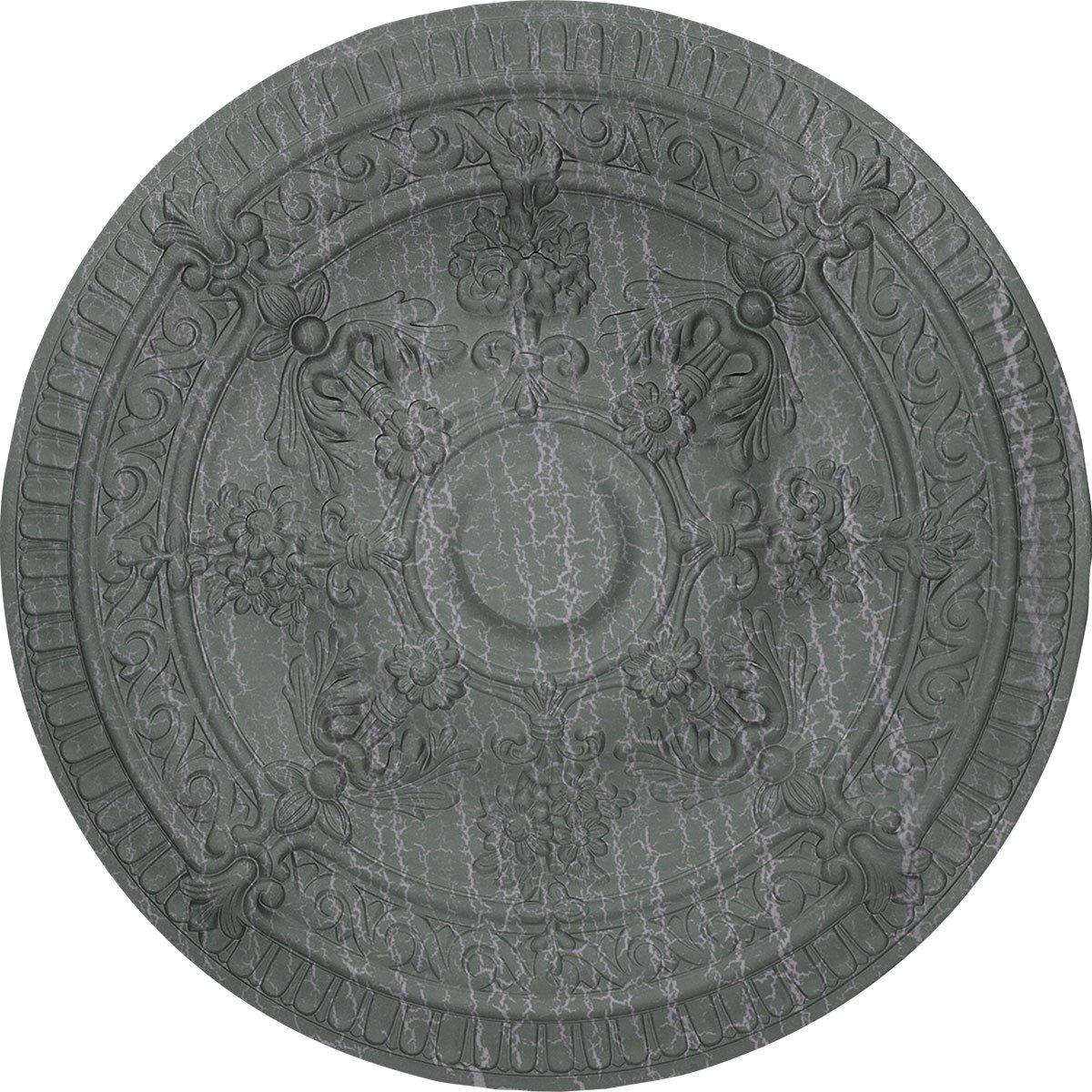 Ekena Millwork CM26VIAGC Vincent Ceiling Medallion, Athenian Green Crackle