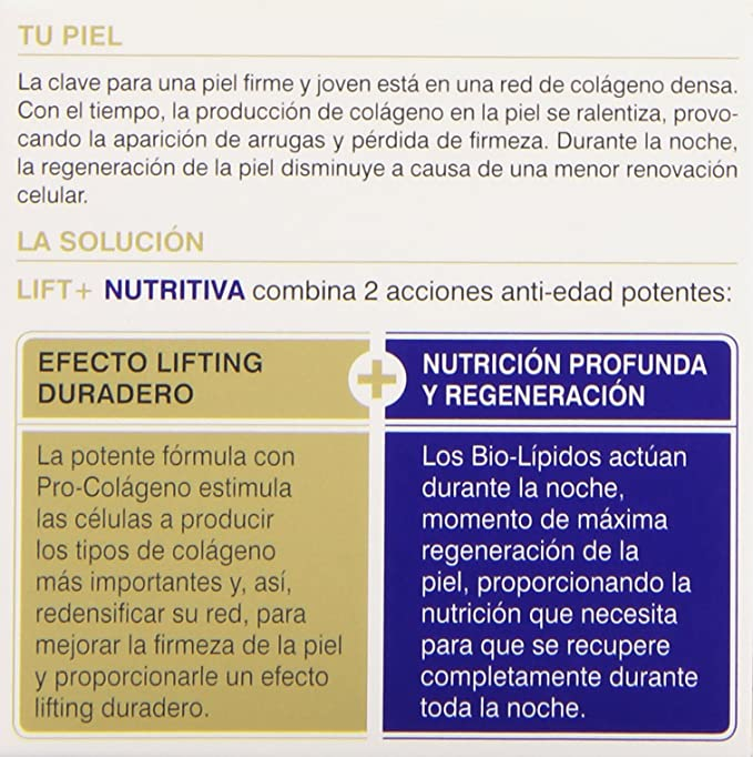 Diadermine - Lift + Nutritiva - Crema de noche anti-arrugas reafirmante - 50 ml: Amazon.es: Belleza