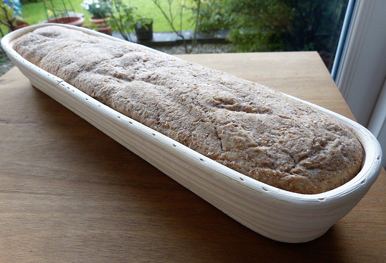 Dgtek 22 inch Baguette Banneton Brotform Bread Proofing Basket Natural Rattan Cane Handmade & Linen Liner Cloth by Dgtek (Image #7)