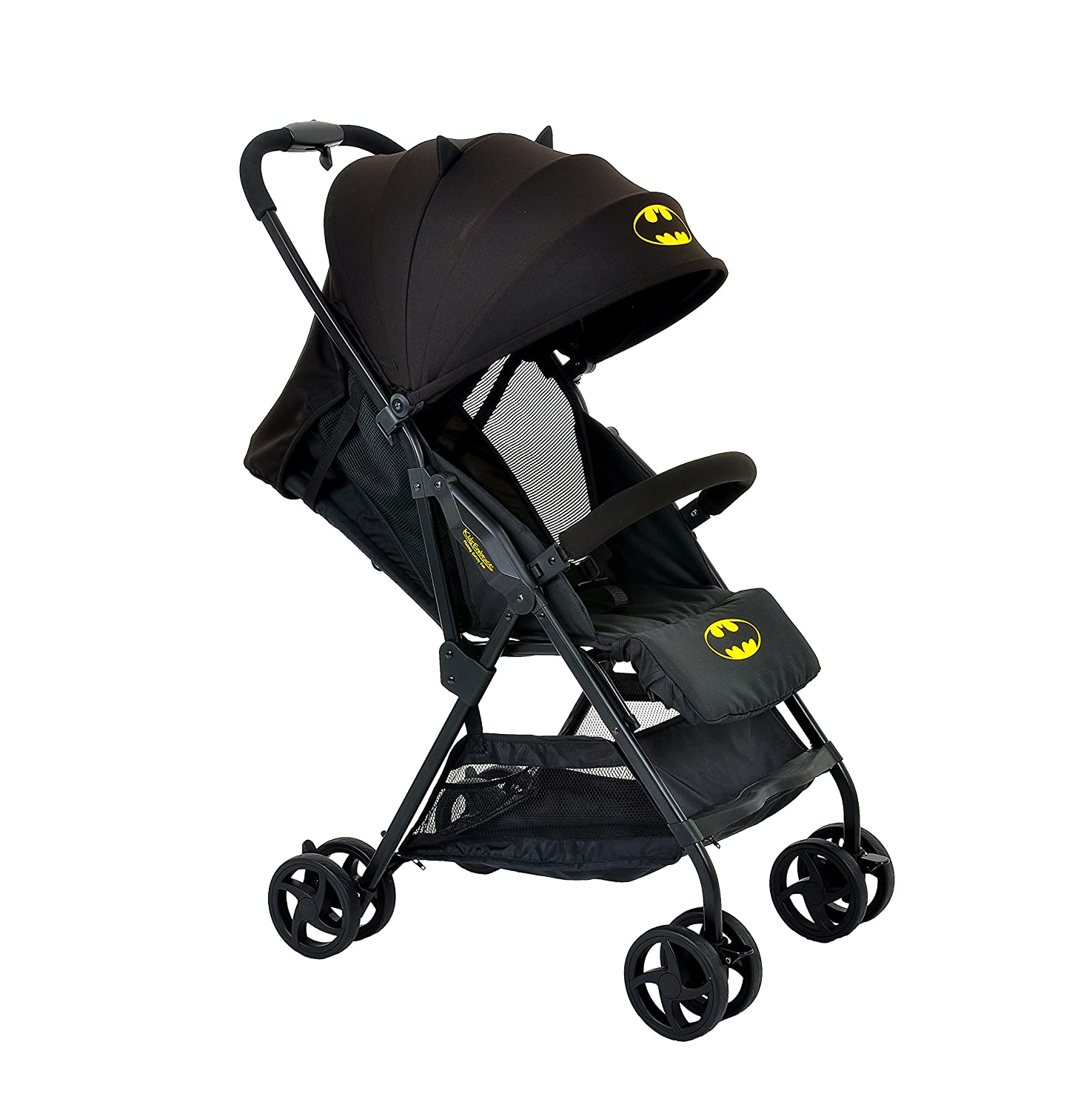 Amazon KidsEmbrace DC ics Batman Lightweight pact Stroller Black Canopy Baby