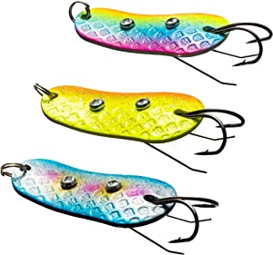 Fishing Spoons Metal Lures Rigs Spinner Blades Colorful Casting Fishing Baits Swim Jig Freshwater Fishing Lures for Trout Bass Salmon Pike Walleye Fishing Tackle
