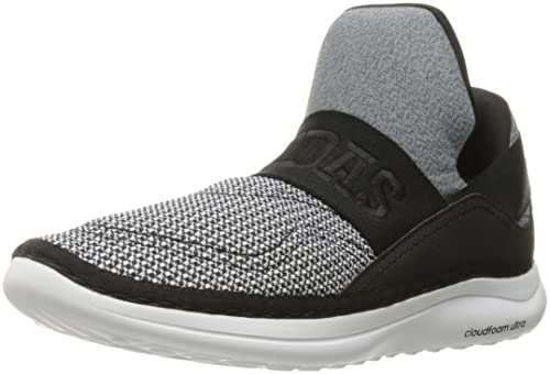 huge discount ae657 b1817 adidas Men s Cloudfoam Ultra Zen Walking Shoes, White Black Light Scarlet, (
