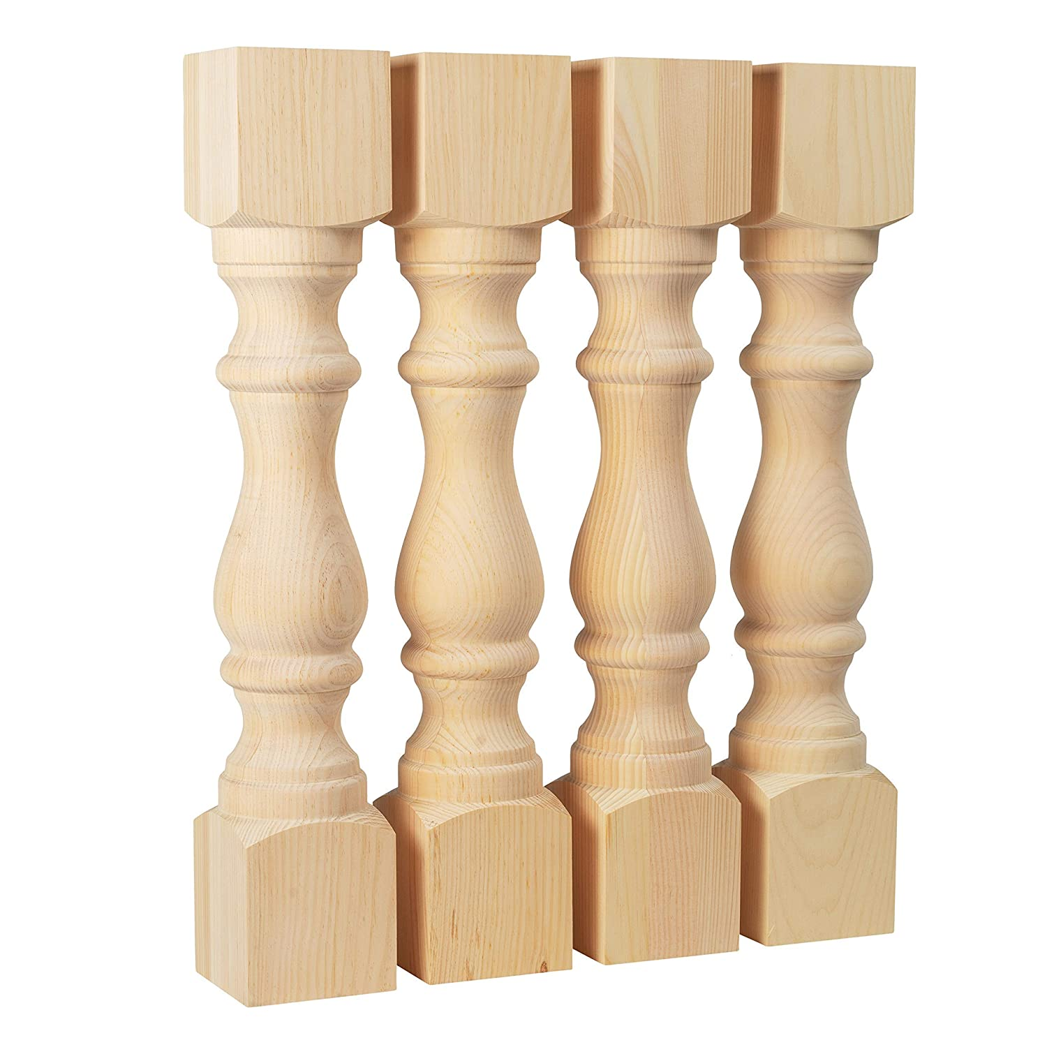 5 x 5 x 29 Inch Dimensions Handcrafted in USA Pine Dining Table Legs Set of 4 Widely Compatible Wood Chunky Monastery Farmhouse Table Legs