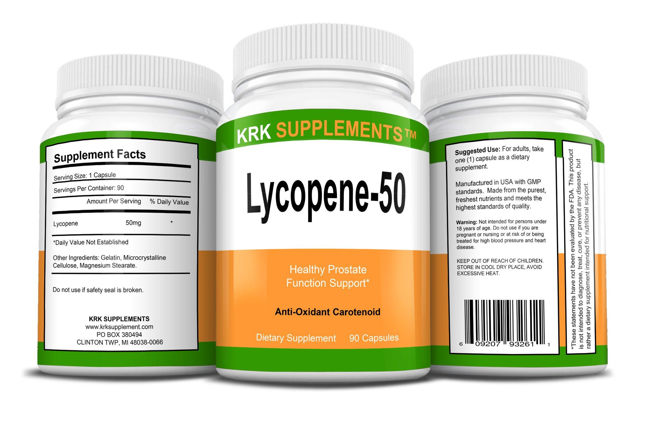 2 Bottles Lycopene 50mg 180 Total Capsules KRK Supplements by KRK SUPPLEMENTS (Image #2)