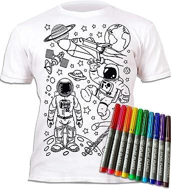 Camiseta infantil para niña, diseño de astronautas. Para ...