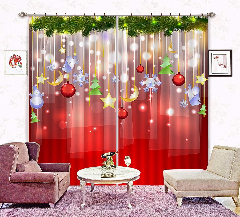 3D メリークリスマス 74 ブロックアウトフォトカーテンプリントカーテンドレープファブリックウィンドウ| 3Dラージ写真カーテン, AJ WALLPAPER Maze (360cmx270cm(WxH)【141''x 106''】) B07L8S2YMT  360cmx270cm(WxH)【141''x 106''】