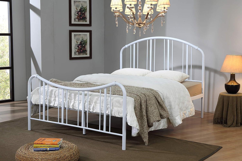 Metal Bed Frame 3FT 4FT6 5FT Bedstead Sturdy Retro Single//Double Frame