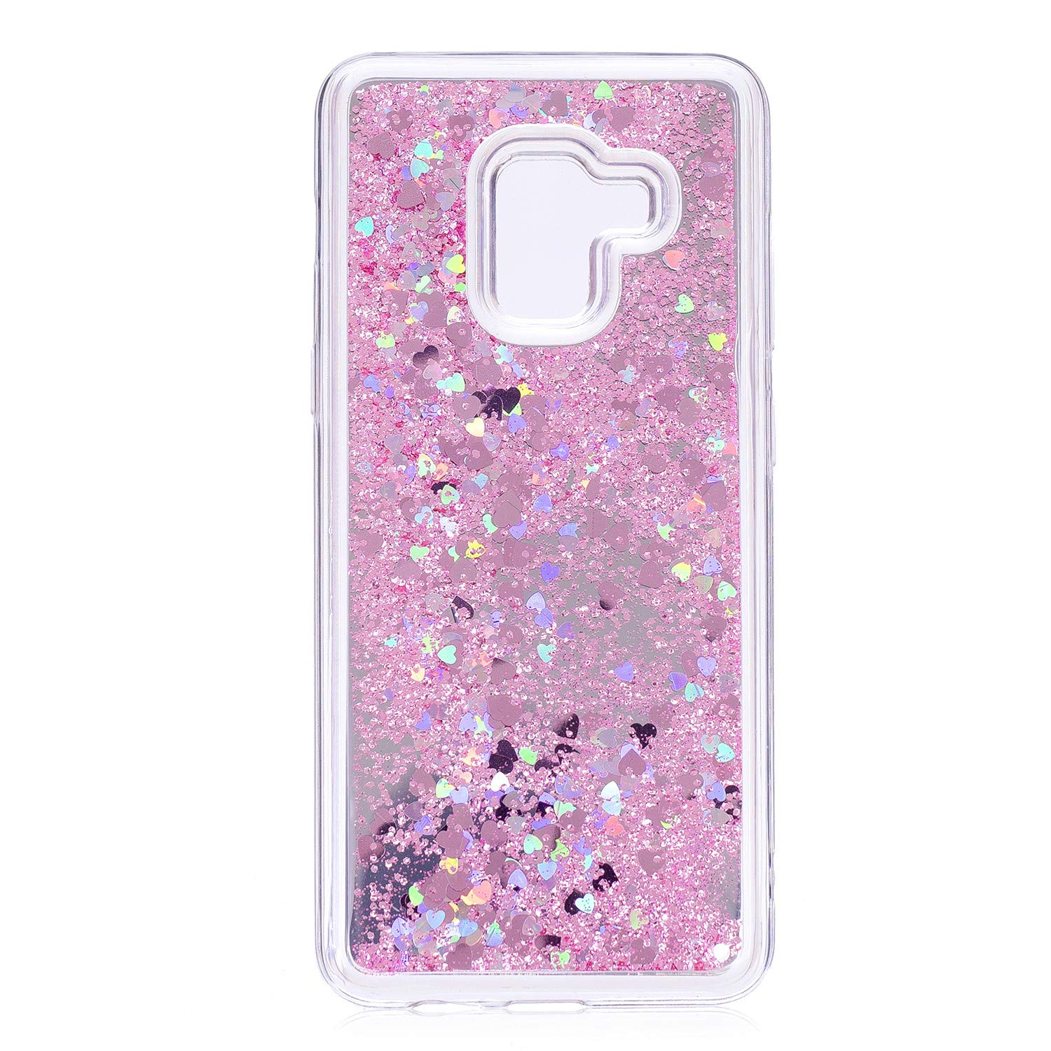 27eb87e17f4e ... Bling Glitter Sparkle Silicone Soft TPU Case Dynamic Flowing Liquid  Quicksand Protective Bumper Back Cover Case For Samsung Galaxy A8 2018  (Pink)