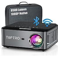 Beamer, 8500 Lumen Beamer Full HD, WiFi Bluetooth Beamer 4K Native 1080P LED Home Theater Video Projector Compatibel met…