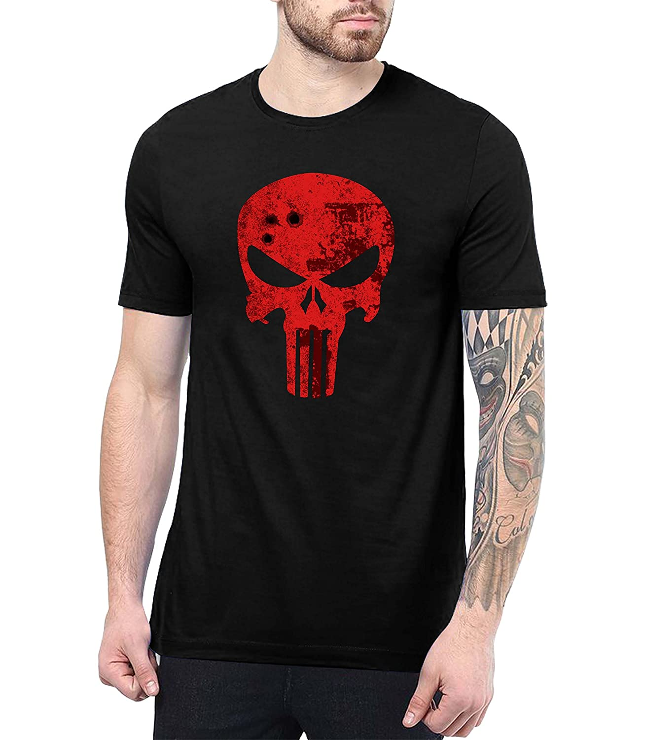7ceef6524 The Punisher shirt is made up of 100% ring- spun Cotton for Superior  Softness. You can expect lasting durability with this 100% cotton
