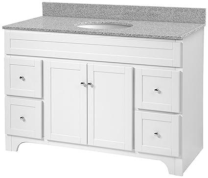 Foremost Wrwat4821d 8m Worthington 48 Inch White Bathroom Vanity