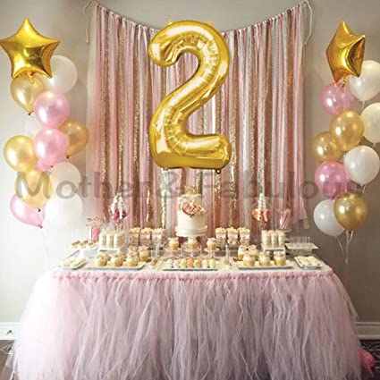 AGE 1 PARTY DECORATIONS PINK or BLUE BABY/'S 1st BIRTHDAY 6 LARGE BALLOONS