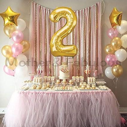 2º cumpleaños bebé niña globos decoración Globo de Mylar de ...