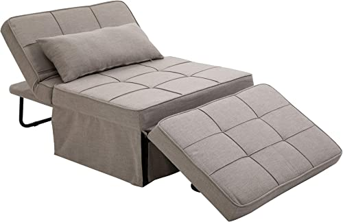 HOMCOM 4-in-1 Design Convertible Sofa Tea Table Lounge Chair Single Bed