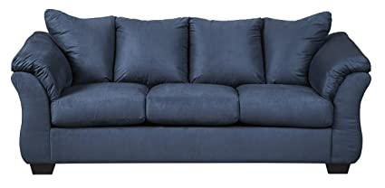 Amazon.com: Signature Design by Ashley 7500738 Darcy Sofa, Blue ...
