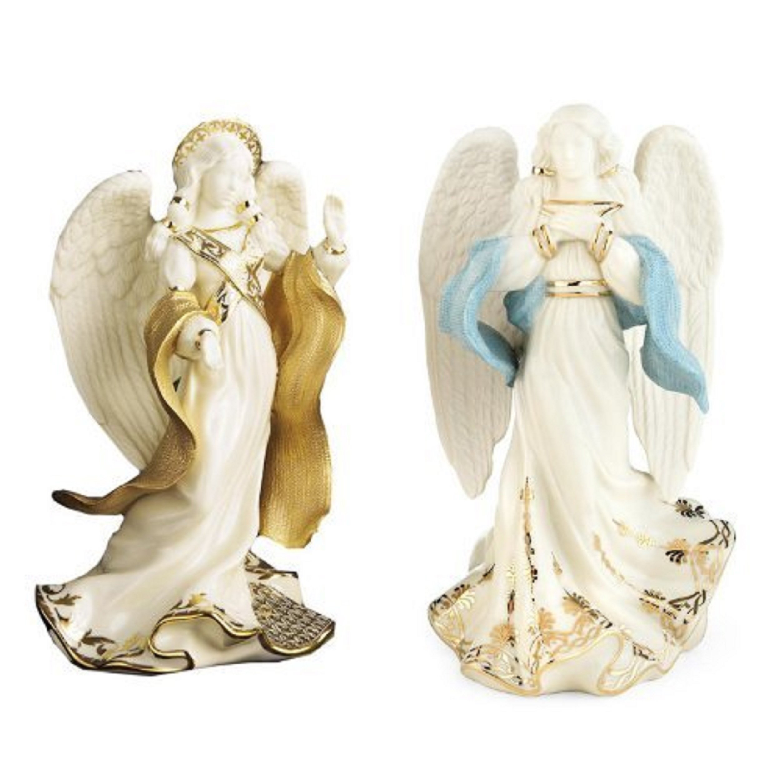 Lenox First Blessing Nativity Peace & Hope Angel Figurines Set 1st Quality