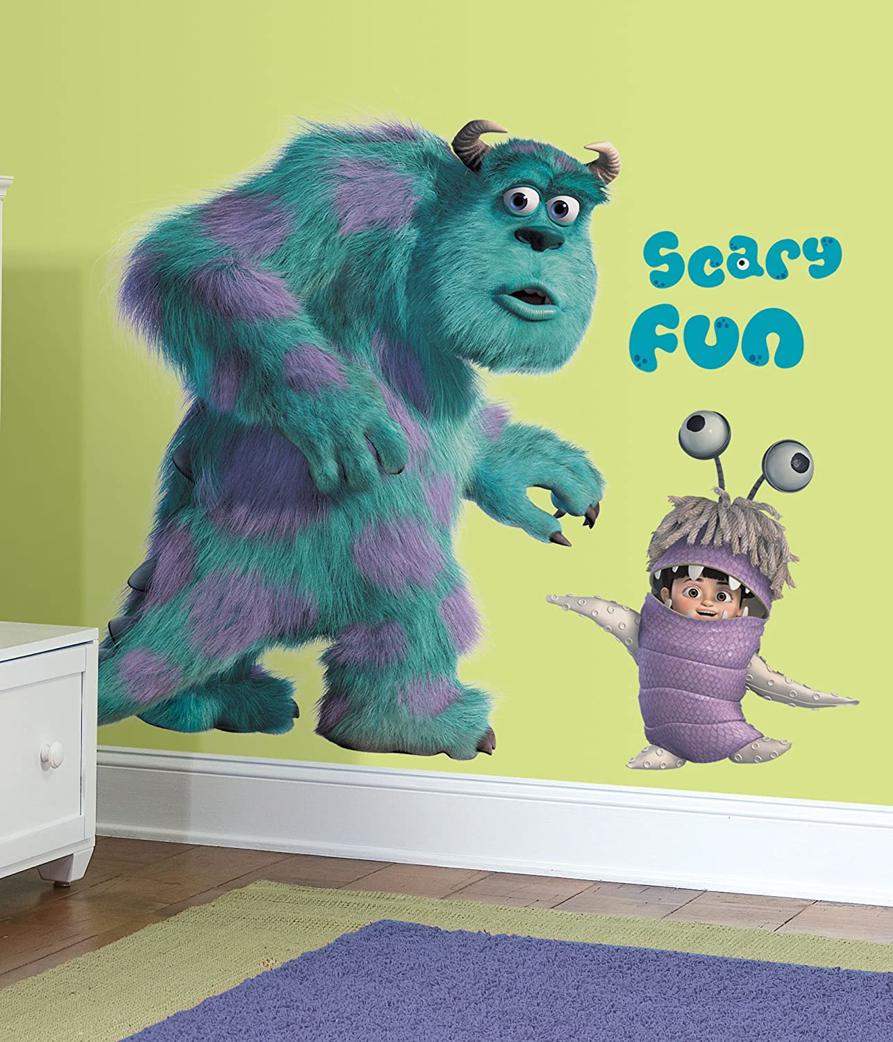RoomMates Childrenu0027s Repositonable Disney Wall Stickers, Giant Sully And  Boo: Amazon.co.uk: Kitchen U0026 Home Part 30