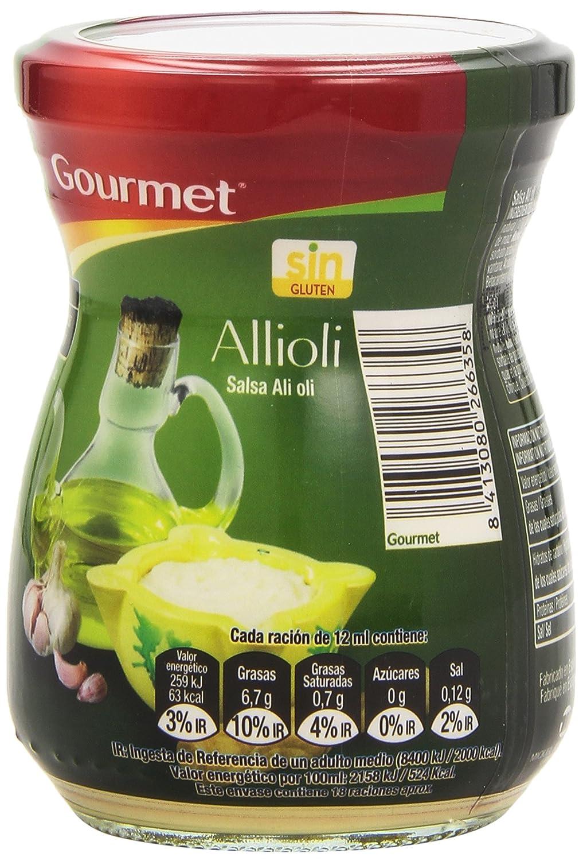 Gourmet - Allioli - Salsa Ali oli - 225 ml: Amazon.es: Alimentación y bebidas