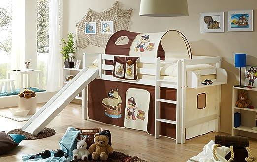 Loft TAU cama con diseño de escalera de mano, 90 x 200 cm: Amazon.es: Hogar