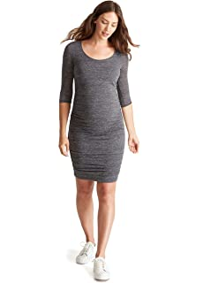 fb571730c0 Ingrid   Isabel Women s Ruched Maternity Bodycon Dress Causual Short Sleeve  3 4 Sleeve Dress