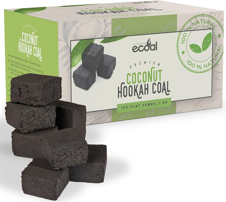 eCoal Natural Premium Coconut Hookah Sisha Charcoal Coal 120 Pcs