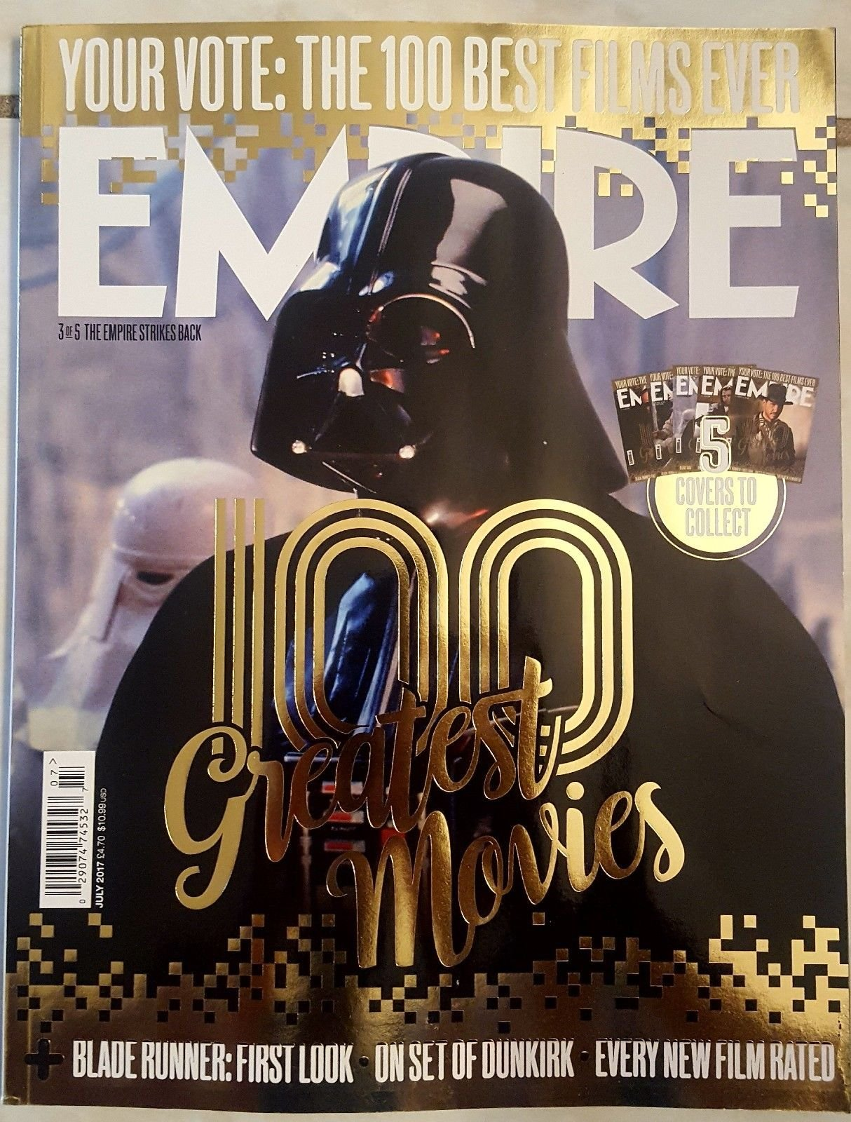 """Download EMPIRE MAGAZINE UK JULY 2017 """"100 GREATEST MOVIES"""" THE EMPIRE STRIKES BACK (COVER #3), WAR FOR THE PLANET OF THE APES, BLADE RUNNER: FIRST LOOK, ON SET OF DUNKIRK, EVERY NEW FILM RATED pdf epub"""