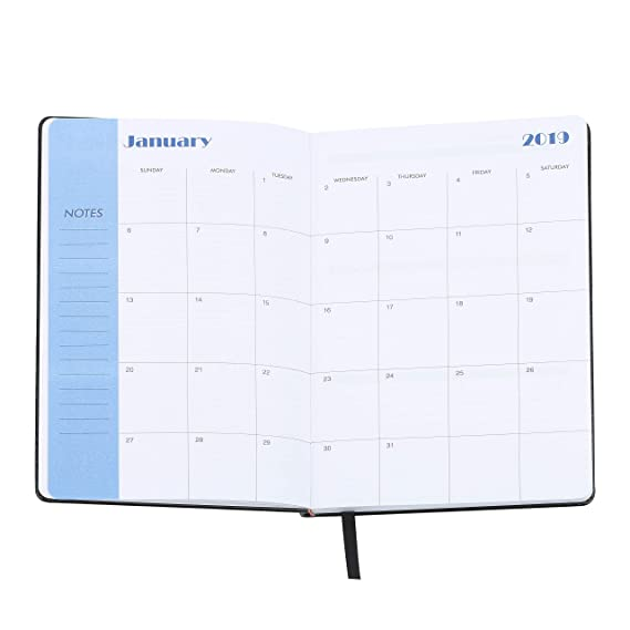 Amazon.com: 2019-2020 Planificador diario semanal de piel ...