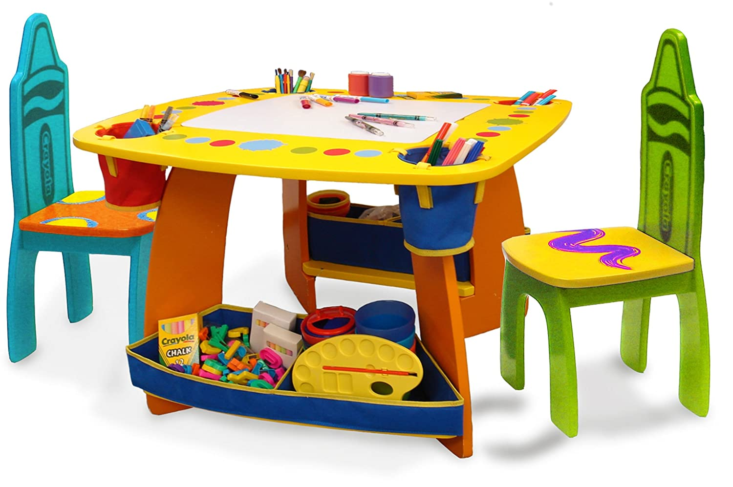 Table Set For Kids Amazoncom Crayola Wooden Table And Chair Set Toys Games