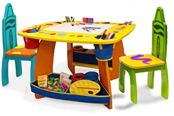 sc 1 st  Amazon.com & Amazon.com: Crayola Wooden Table And Chair Set: Toys u0026 Games