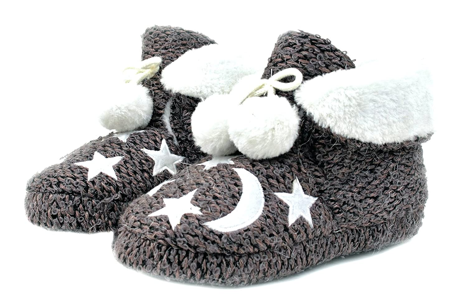 Luckers Girls Moon and Stars Slippers Booties