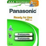 Panasonic Stay Charged - batterie rechargeable ( 750 mAh , 1,2 V , 2 unités ) , blanc, vert