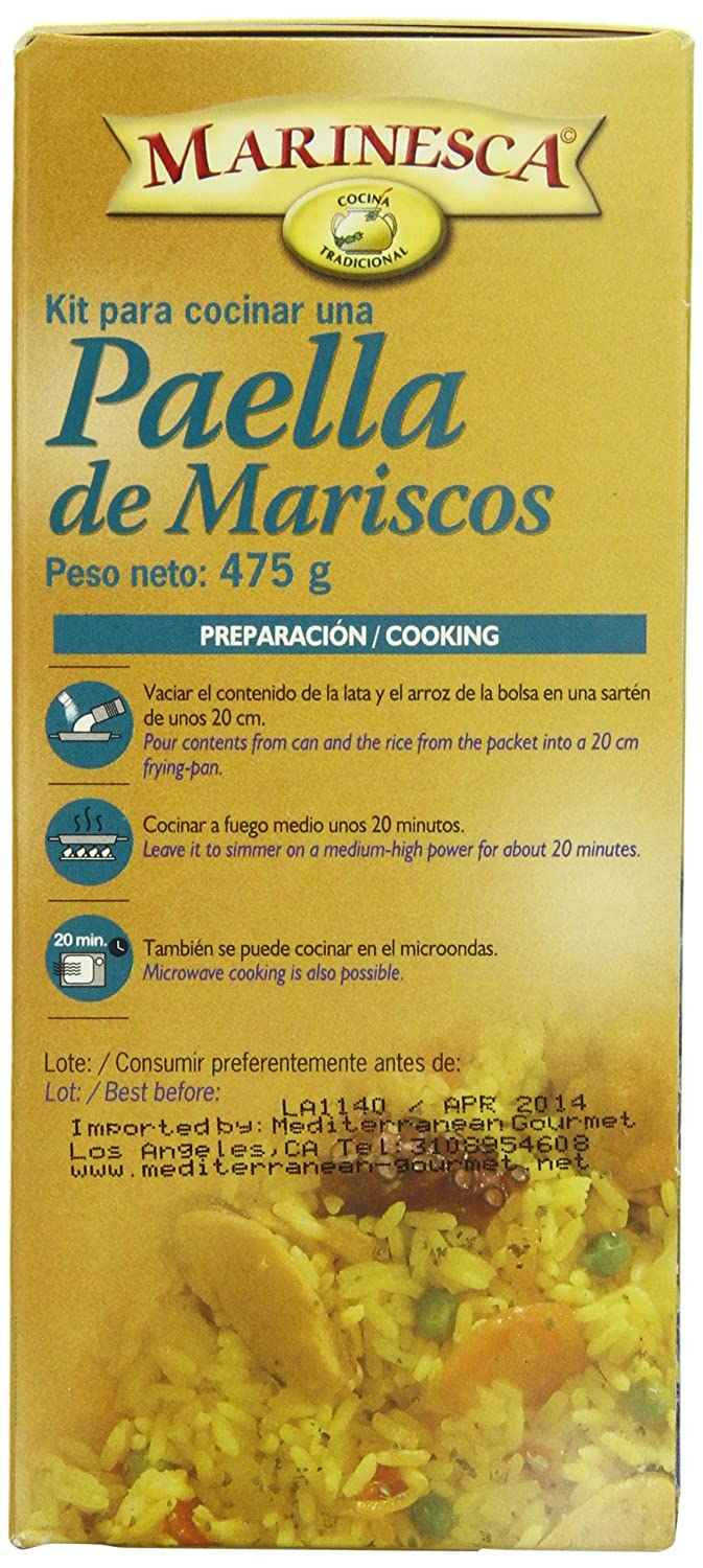 Amazon.com : Marinesca Paella, Seafood, 475 Gram : Rice Paella : Grocery & Gourmet Food