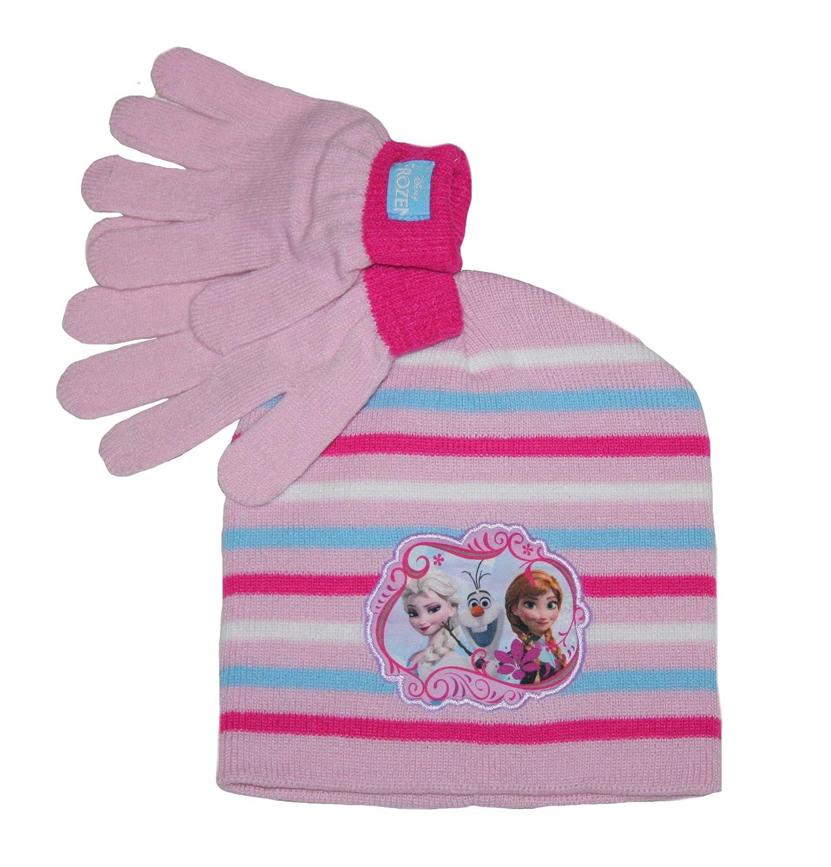 Disney Frozen Big Girls Beanie and Gloves Set