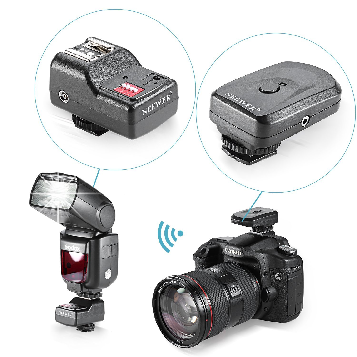 Neewer Wireless Speedlite Receiver Universal Image 3