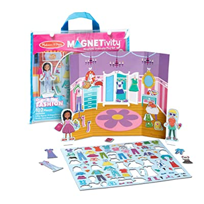 Melissa & Doug 102-Piece MAGNETIVITY Magnetic Dress-Up Play Set – Dress & Play Fashion (2 Play Figures, 99 Accessory Magnets): Toys & Games
