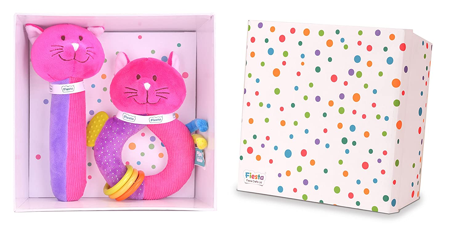 【人気商品】 Cat Baby Gift Set - B01IN4WBZQ Squeakaboo Ringaling And Toys Ringaling Toys B01IN4WBZQ, ペットのセレクトショップるりあん:b250c07d --- clubavenue.eu