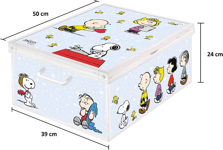 Caja de almacenamiento en cartòn Lavatelli, PEANUTS Snoopy, facil ...