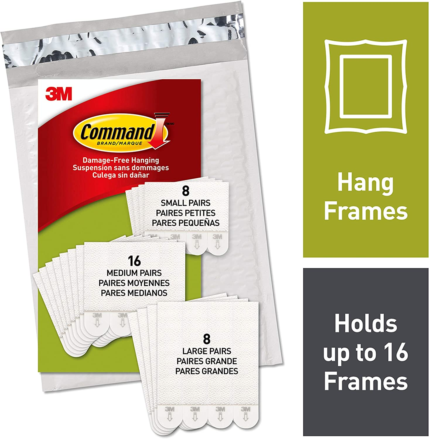 Command White Picture Hanging Strips, Indoor Use (PH211-32NA)