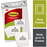 Command, PH211-32NA, Picture Hanging Strips, 8 Small Pairs, 16 Medium Pairs, 8 Large Pairs, White, in easy-to-open packaging