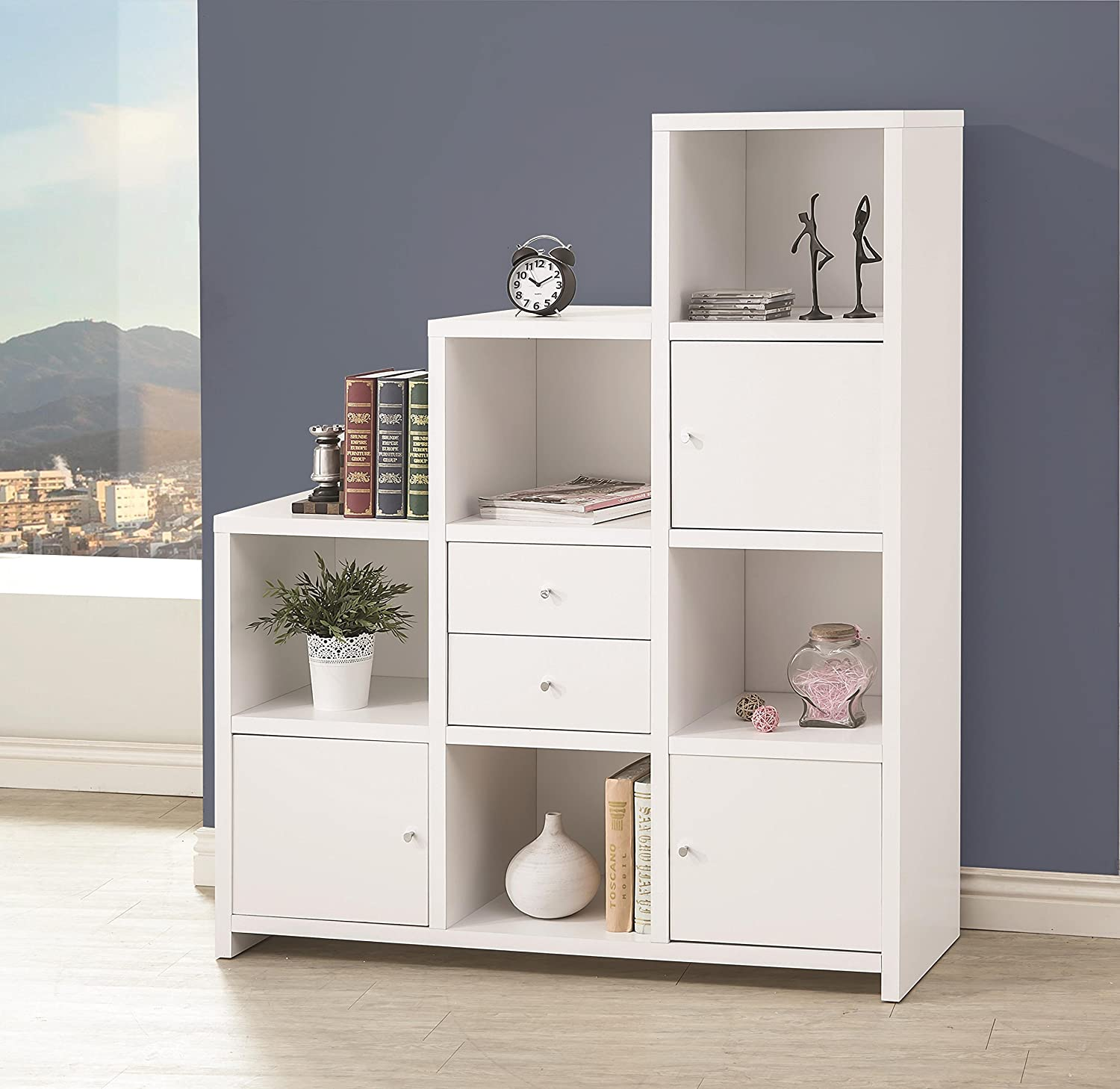 Amazon.com: Coaster Home Furnishings 801169 Bookcase, White: Kitchen u0026  Dining