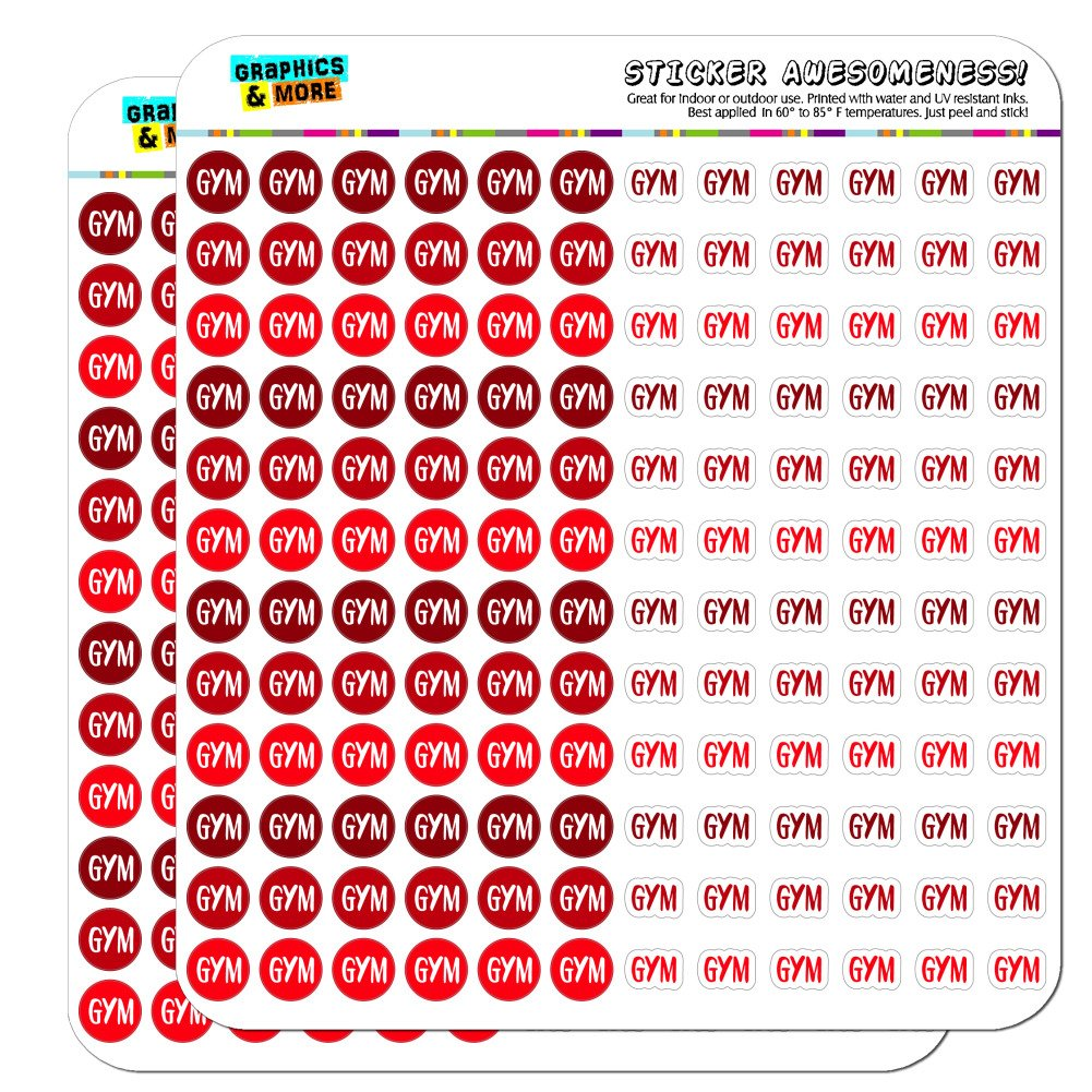 Gym Dots Planner Calendar Scrapbooking Crafting Stickers - Blue - Clear
