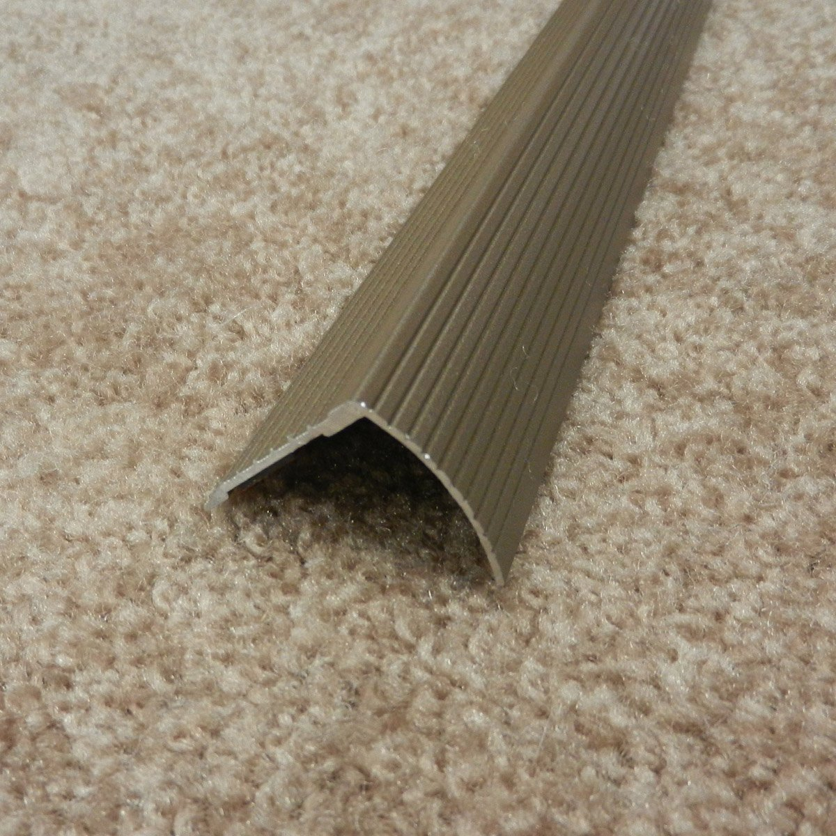 36 in L Spice Prefinished M-D Building Products 43311 M-D Fluted Stair Edging Transition Strip quot Aluminum