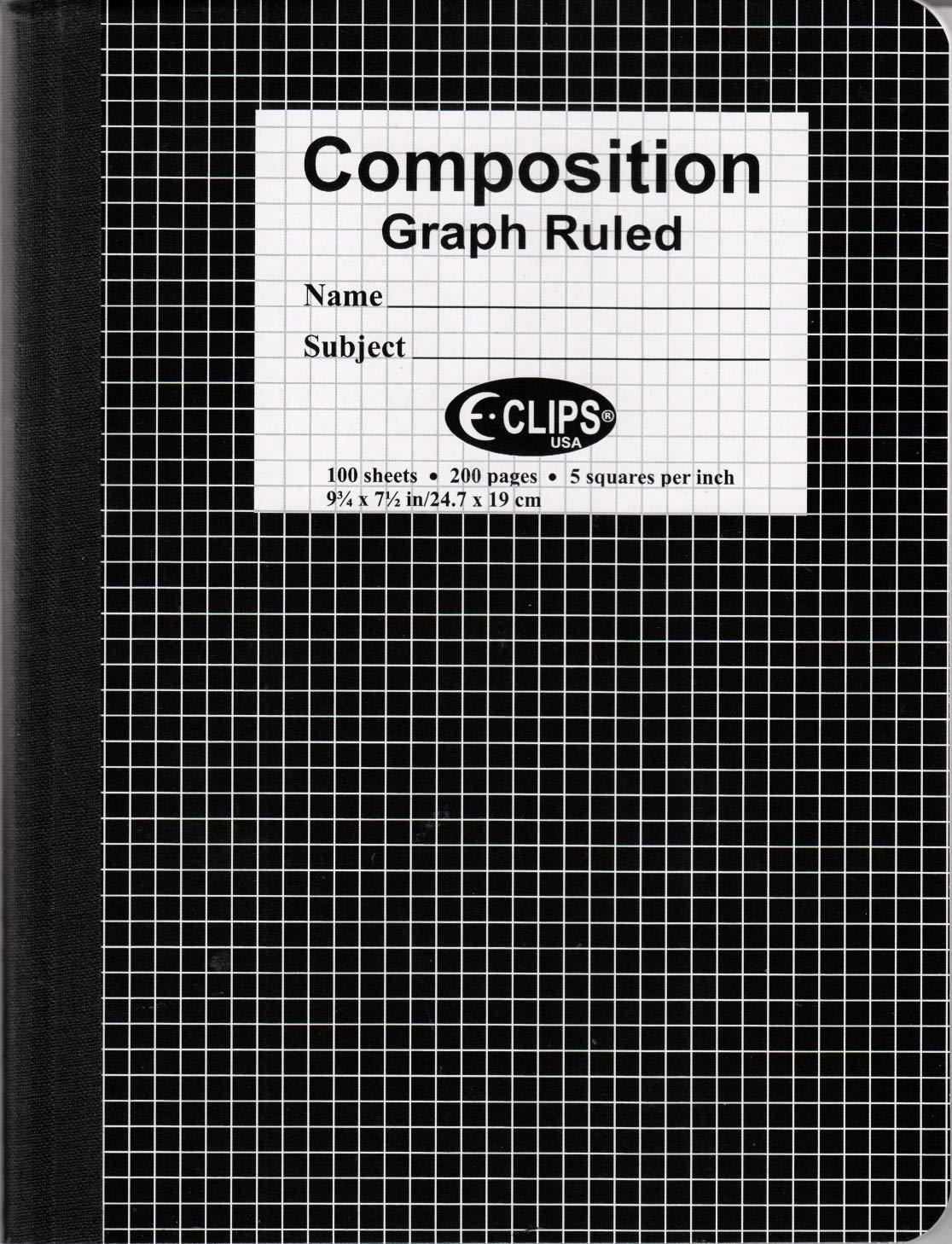 Composition Notebook, Graph Ruled, 100 Sheets, Case Pack of 48, ideal for bulk buyers