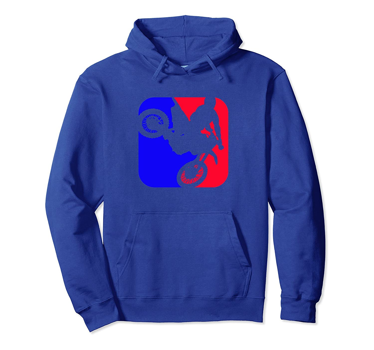 Blue and Red Motocross Rider Supercross Hooded Sweatshirt-ah my shirt one gift