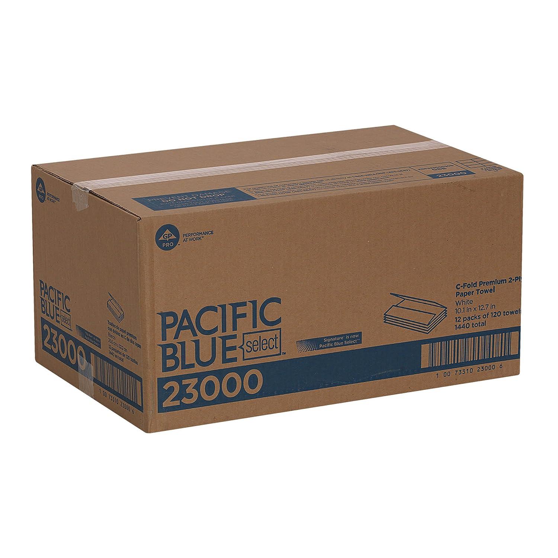 Georgia Pacific Profesional 23000 C-fold toallas de papel, 10 1/10 x 13 1/5, color blanco, 120 por paquete (funda de 12 paquetes): Amazon.es: Industria, ...