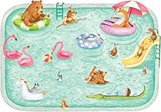 product image for Hester & Cook Pool Party Die Cut Paper Placemat, Pack of 12