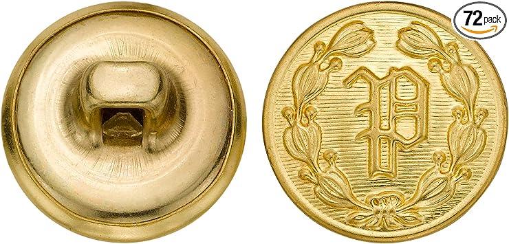 36-Pack C/&C Metal Products Corp C/&C Metal Products 5024 Devonshire Metal Button Size 30 Ligne Antique Gold