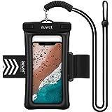 防水ケース スマホ用 Auwet【指紋認証・顔認証】アームバンド・ストラップ付き フローティングエアー搭載 IPX8認定 完全防水 携帯防水ケース 海水浴 お風呂 水中撮影 iPhone XR/Xs Max/Xs/X・iPhone8/7/6/Plus Android Xperia Galaxyなど6.5インチスマホまでに対応