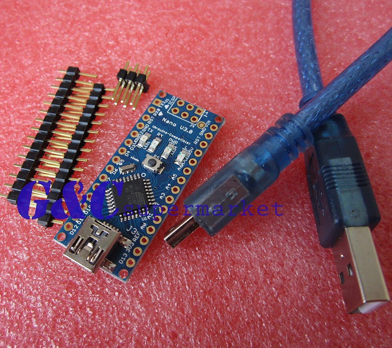 5pcs Nano V3.0 Mini USB ATmega328 5V 16M Micro-controller Arduino-compatible M46